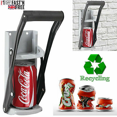 Tin Can Crusher Large Beer Wall Mounted Recycling Tool Bottle Uk 16Oz 500ML T2 • 7.69£