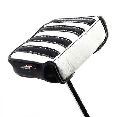 £23.99 • Buy Golf Black White Stripes Mallet Putter Cover For Taylormade Spider Square Magnet
