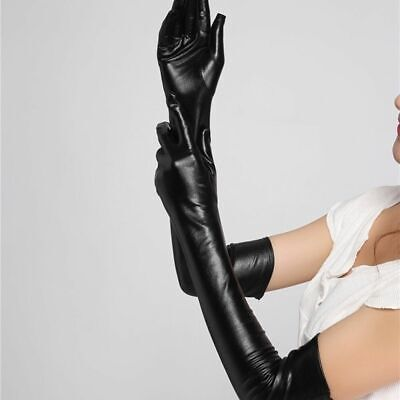 Adult Long Latex Gloves Faux Leather Gloves Clubwear Accessories Cosplay U • 4.78£