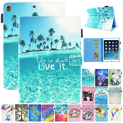 For IPad 10.2  8th Gen 2020 Smart Case Leather Pattern Card Holder Tablet Cover • 11.98£
