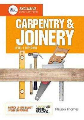 Carpentry & Joinery Level 1 Diploma By Leeds College Of Building 97814085212 • 26.29£