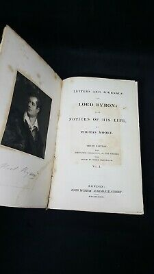£14.99 • Buy 1833, Vol. 1, Third Edition, Thomas Moore, Letters & Journals Of Lord Byron