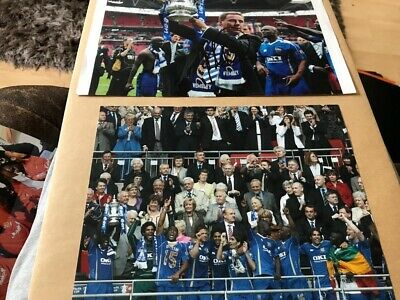 Hand Signed Harry Redknapp Photo With Fa Cup, Portsmouth FC Team Celebrating Win • 4.99£