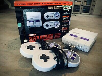 $ CDN158.56 • Buy **FANTASTIC CONDITION W/ BOX** Nintendo SNES Classic Edition Authentic 21 Games