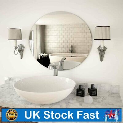 Square/Round Large Bedroom Bathroom Wall Mirror Glass Mirror Home Wall Decor New • 30.29£