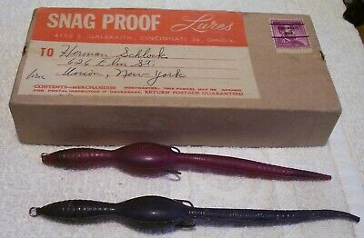 $ CDN29.34 • Buy Vintage Snag Proof Box With 2 Rubber Lure 10/22/20p   Papers   6