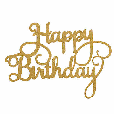 £2.30 • Buy Happy Birthday Cake Topper Bling Sparkle Glitter Party Decoration Calligraphy
