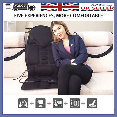 Electric Massage Chair Mat Pad Cushion Heat Body Back Shoulder Neck Home Car New • 32.87£