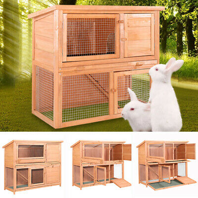 Rabbit Hutch Guinea Pig Chinchilla Bunny Run Ferret Fully Indoor / Outdoor House • 59.95£