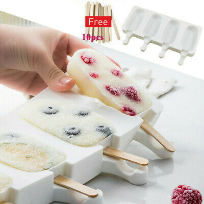 S/L Silicone Block Pole Lolly Frozen Mould Tool Maker Mold Ice Cream Popsicle AU • 3.71£