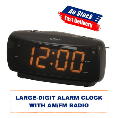 AU38.69 • Buy Large-Digit Alarm Clock With AM/FM Radio
