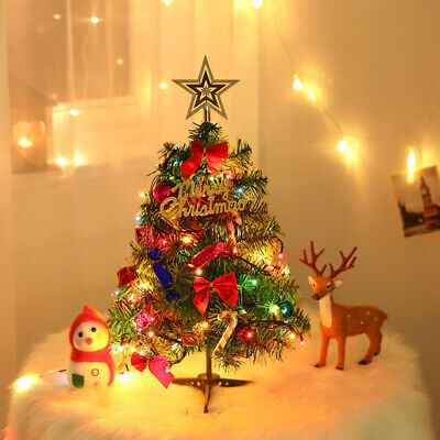 Mini Table Desk Decor Christmas Tree With LED Stirng Lights • 8.39£