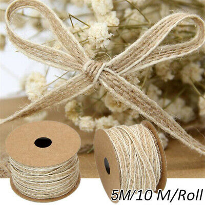 Jute Burlap Rolls Fish Silk Rope Hessian Ribbon Lace Rustic Party Trims Tapes UK • 3.94£
