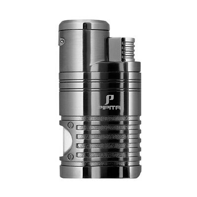 PIPITA 4 Torch Jet Flame Cigar Cigarette Lighter Refillable Butane With Punch • 9£