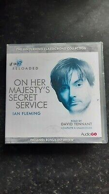 James Bond On Her Majesty's Secret Service Read By David Tennant 8 X CD Audio  • 7.99£