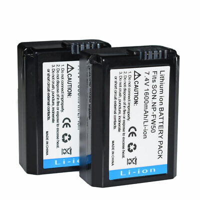 $ CDN20.46 • Buy 2X NP-FW50 Battery For Sony Alpha A6500,a6300,a6000,A6100 ILCE-6100 ,a7s Ii,a7s