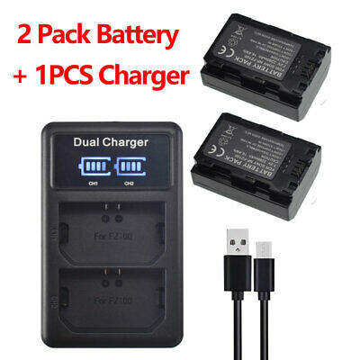 $ CDN54.18 • Buy 2X Battery + USB Dual Charger For Sony NP-FZ100 A7 III A7M3 A7R III A7RM3 A9 New