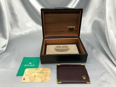 $ CDN210.53 • Buy Authentic ROLEX Wooden Box 71.00.06 Day-date Vintage Card Case 1021005 P225