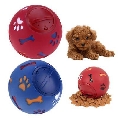 Pets Dog Puzzle Toy Tough-Treat Ball Food Dispenser Interactive Puppy Play Toys • 3.87£