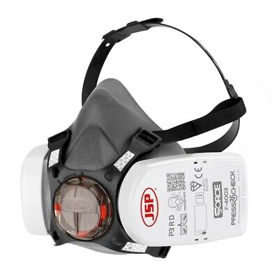 JSP Force 8 (Medium) Protective Safety Mask P3 PressToCheck Filters INCLUDED • 20£
