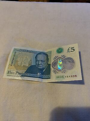 AK05 464898 Rare Five Pound Note! • 250£