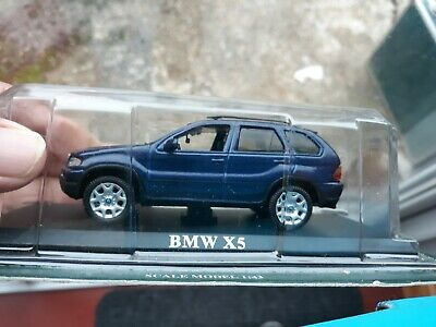 BMW X5 BLUE 1/43 Scale  4in Diecast Official Model * NEW SEALED PACK • 12.95£
