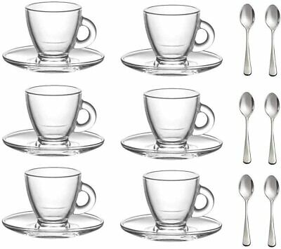 12pc Roma Espresso Set (95cc), Cups And Saucers & 6 Small Spoons • 11.04£