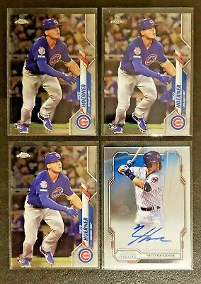 $ CDN19.99 • Buy 2019 Bowman Sterling Nico Hoerner Rookie Auto Cubs + 2020 Topps Chrome RC Lot