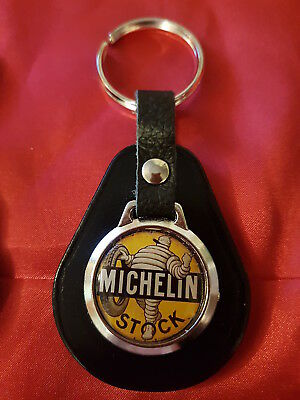 £4.89 • Buy Michelin Man Stock Vintage Style Tyres Sign  Top Quality Leather & Metal Keyring