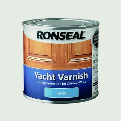 Ronseal Yacht Varnish Exterior Wood Satin - 250ml 500ml - UK Stock  FREE Postage • 10.99£