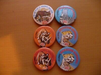6 Vintage Golden Wonder Animal Themed Badges - Very Collectable! • 1.99£