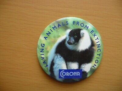 Vintage Saving Animals From Extinction Badge - Great Little Collectable Badge! • 1.25£