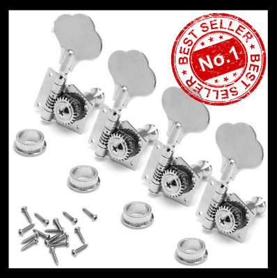 $ CDN25.81 • Buy New 4pcs Bass Guitar Machine Heads Knobs Tuners Tuning Pegs Tuners Guitar Parts