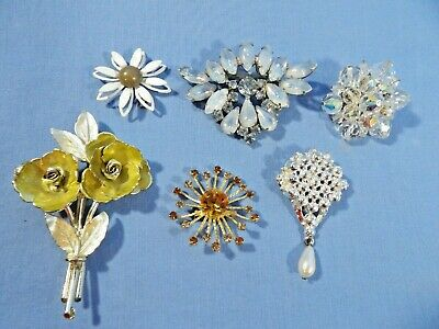 $ CDN6.51 • Buy Lot Of 6 Vintage Brooches