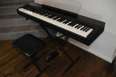 AU650 • Buy Yamaha Electric Piano P-140 Black With Stand, Stool & Pedal
