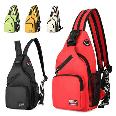 AU21.53 • Buy Men Women Chest Sling Bag Hiking Cross Body Messenger Shoulder Backpack Outdoor