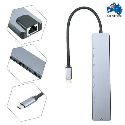AU26.85 • Buy 8in1 USB-C 3.1 To Type-C USB 3.0 Hub HDMI Ethernet Micro SD TF OTG RJ45 Adapter
