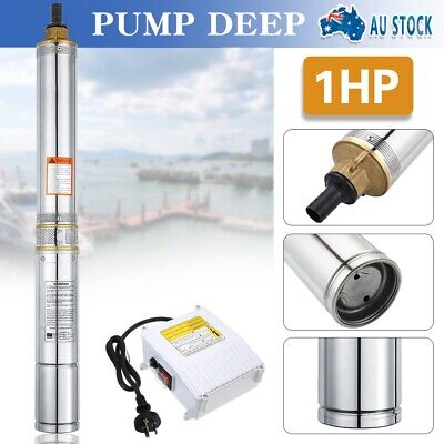 AU198.99 • Buy NEW 1HP 240V Stainless Steel Submersible Bore Water Pump Deep Well Irrigation AU