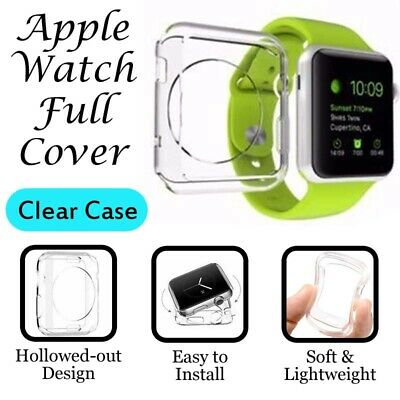 AU4.59 • Buy For Apple Watch IWatch Series SE 6 5 4 3 2 Clear Case Full Cover 38 40 42 44mm