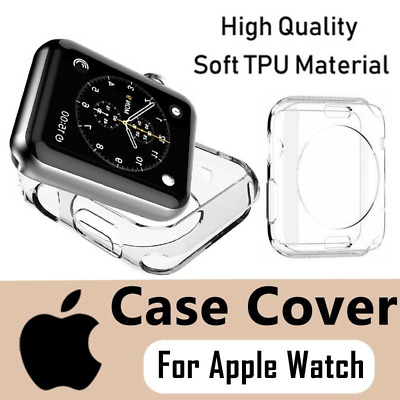 AU5.69 • Buy For Apple Watch Soft TPU Case Cover Series 1/2/3/4/5/6/SE IWatch 38/42/40/44mm