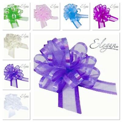 £1.99 • Buy Organza Pull Bows Large 50mm Gift Bows Quality Eleganza Decoration