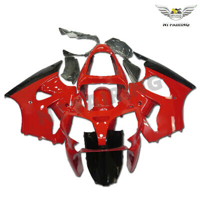 $509.99 • Buy MS Injection Fairing Kit Red Black Fit For Kawasaki 2000-2002 ZX6R ZX-6R W034