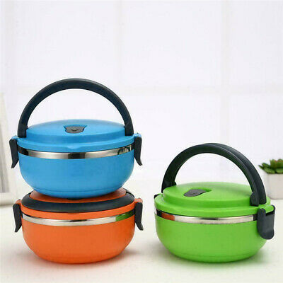 AU7.50 • Buy Food Flask Stainless Steel Healthy Lunch Box Thermos Vacuum Travel New Insulated
