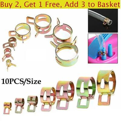 Stainless Steel Fastener Fuel Oil Line Water Hose Pipe Spring Clips Tube Clamp • 3.77£