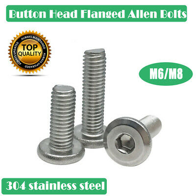 AU9.49 • Buy M6 M8 Stainless Hex Socket Flanged Button Head Allen Bolts Screws AU