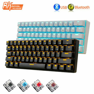 AU58.89 • Buy RK61 Wireless Mechanical Gaming Keyboard Bluetooth With Brown/Red/Blue Switch AU