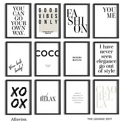 £11.99 • Buy Home Quotes Prints Modern Wall Art Living Room Pictures Lounge Decor Gift Framed