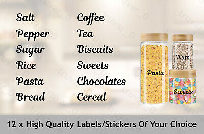 12 X Mrs Hinch Inspired Stickers Organising Kitchen Labels. Name Tag. Bathroom • 4.55£