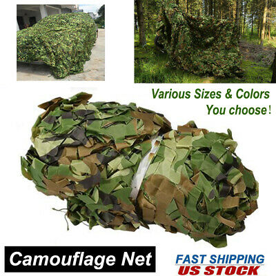 $18.83 • Buy Camouflage Camo Army Net Jungle Military Hunting Woodland Camping Leaves Netting