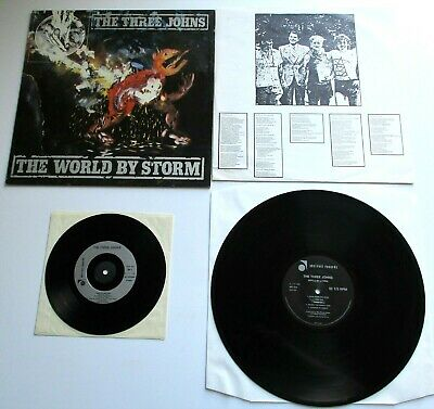 The Three Johns - The World By Storm UK 1986 Abstract LP With Inner & Bonus 7  • 11.43£